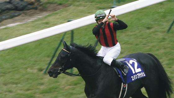 平成24年【天皇賞・秋】天覧競馬で優勝馬エイシンフラッシュから下馬して頭を下げるミルコ・デムーロ騎手