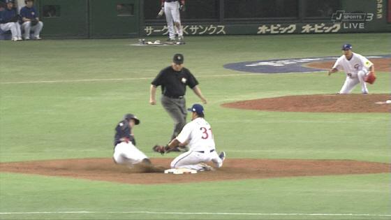 2013WBC第2ラウンド日本vs台湾 鳥谷に盗塁