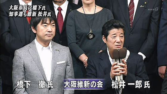 大阪市長選、大阪府知事選
