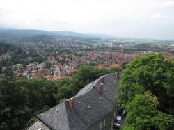 Wernigerode城からの眺め