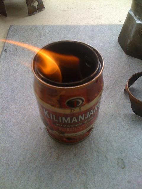 缶コーヒーストーブ
