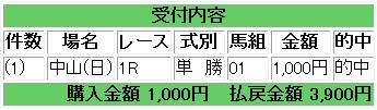 期待値110109中山1R
