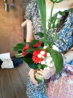 花束もらっちゃった。