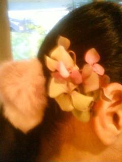 髪飾りの紫陽花♪
