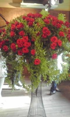 店内の薔薇♪