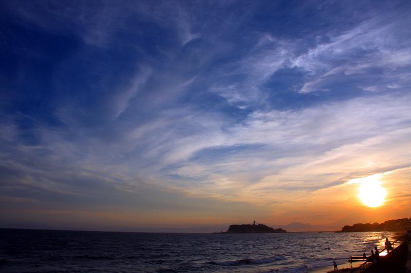 七里ガ浜の夕焼け