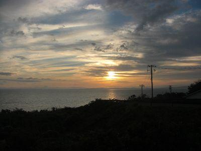 入道崎から見た朝日
