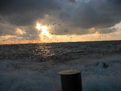 大竹丸からの夕日