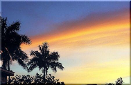 グアムの夕焼け