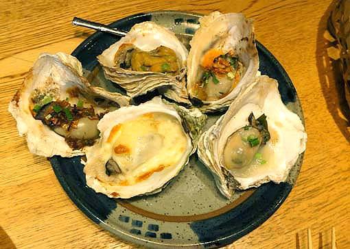 20120525 とふろ 焼き牡蠣盛り合わせ 18cm「DSC09231