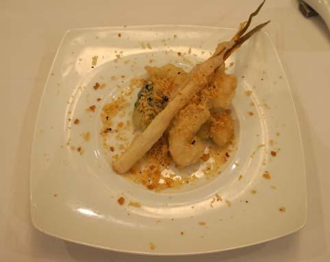 20120809 銀座アスター 海老と季節野菜の塩麹炒め17cmDSC01336