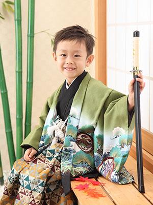 秋田の七五三 スタジオ撮影 5歳 ソウタロウくん