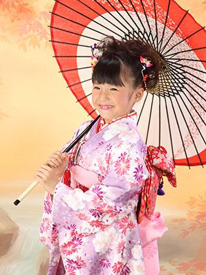 秋田の七五三 スタジオ撮影 7歳 アヤネちゃん