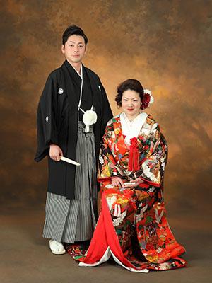 秋田のブライダルフォト スタジオ撮影 写真だけの結婚式 タツムネ&ナオさん1