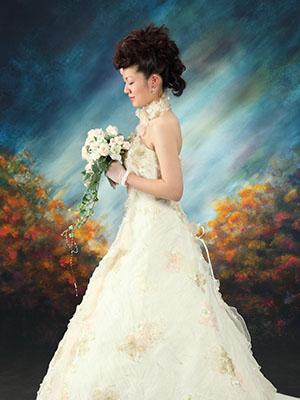 秋田のブライダルフォト スタジオ撮影 写真だけの結婚式 タツムネ&ナホさん2