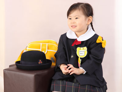 秋田の入園写真 スタジオ撮影 幼稚園入園 マユコちゃん