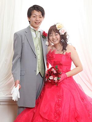 秋田のブライダルフォト スタジオ撮影 写真だけの結婚式 ケイタ&アユミさん