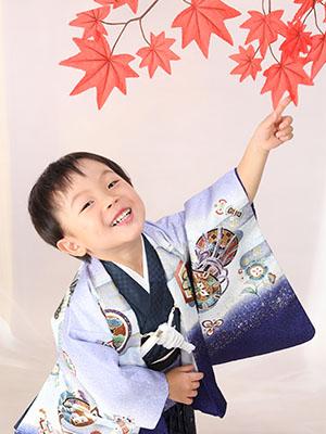 秋田の七五三 スタジオ撮影 3歳 ハヤトくん
