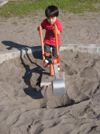 ホクト砂遊び