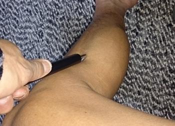 左足の右側のツボ