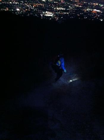 中山真っ暗の岩場下り