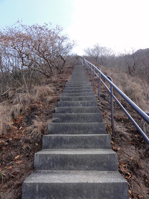 05縦走練習長い階段