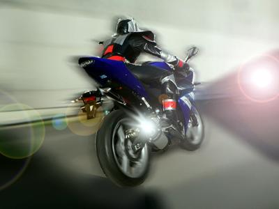 バイクで颯爽!!