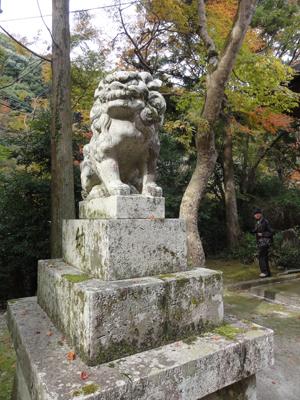 神峯山寺狛犬blog02