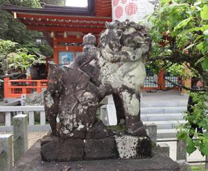 長岡天神狛犬blog01