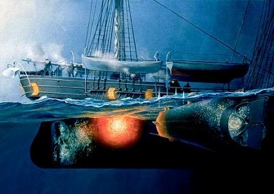 敵艦を撃沈、南北戦争の潜水艦