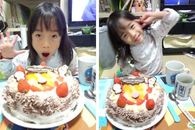 5歳の誕生日手作りケーキ♪