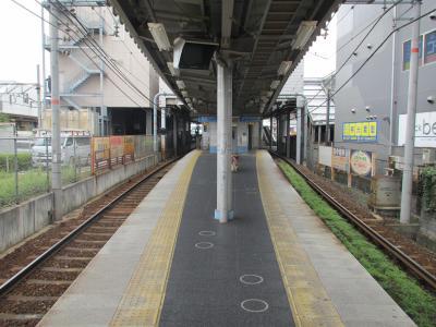 京阪石山駅ホーム