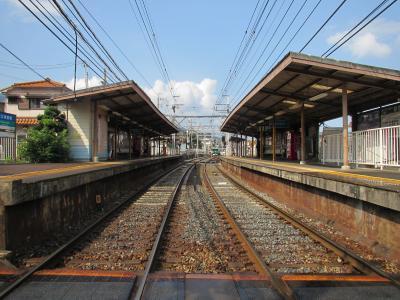 近江神宮前駅ホーム