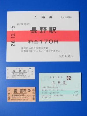長野電鉄入場券