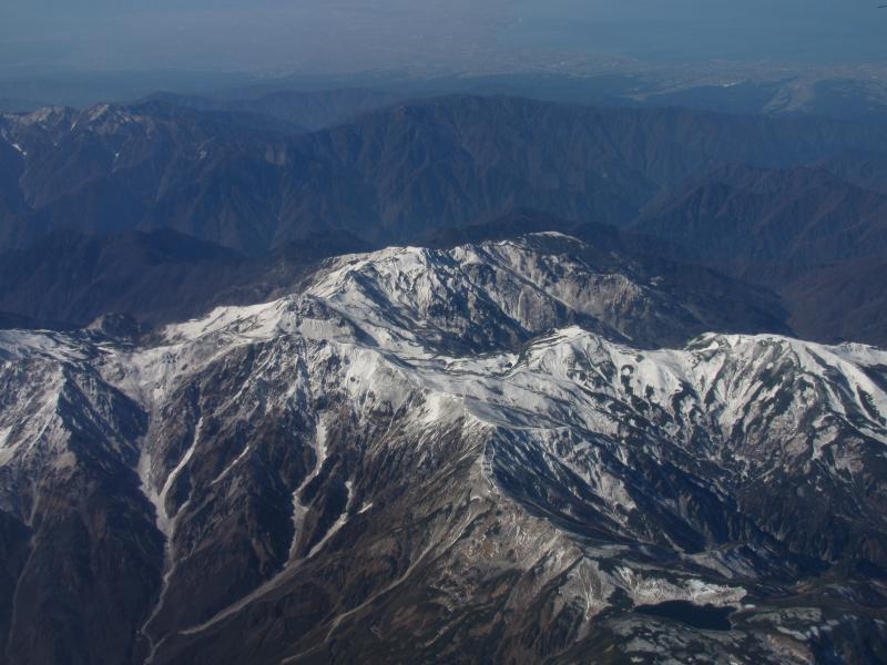 立山連峰上空