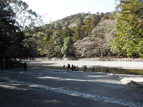 20130125内宮 五十鈴川御手洗場