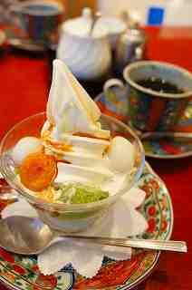 抹茶ババロアセット