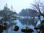 雪の兼六園2