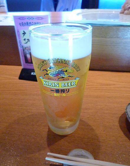 0『鮨屋台』 生ビール