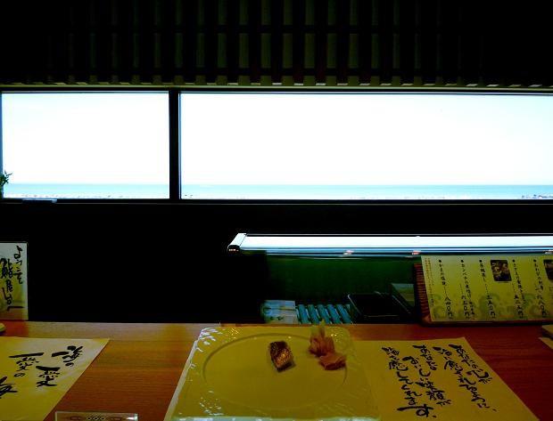 5『鮨屋台』 サワラ?と、カウンターからの眺望