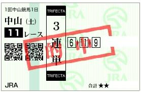 2013中山金杯三連単