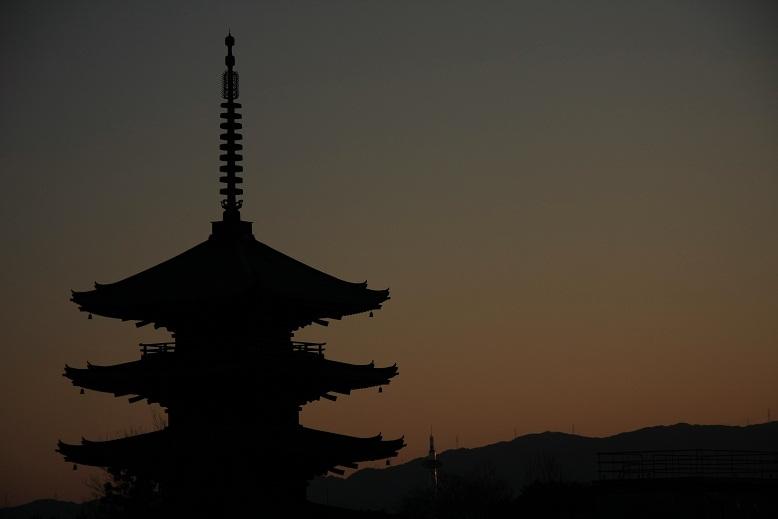 高台寺、黄昏、3