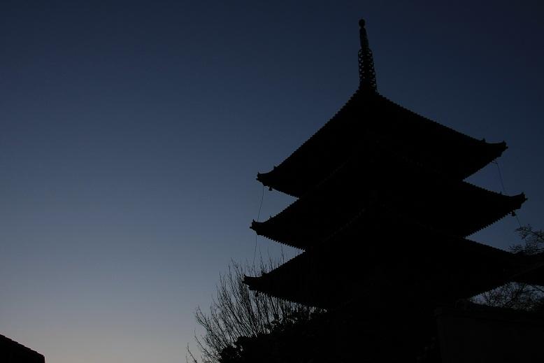 八坂の塔、黄昏、1