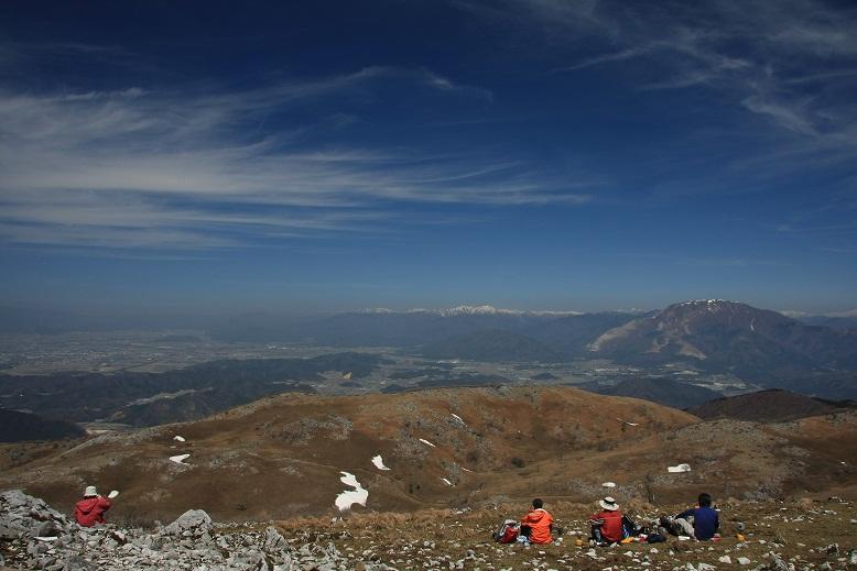 霊仙山山頂、2