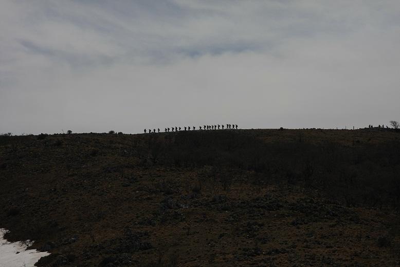 霊仙山山頂方向