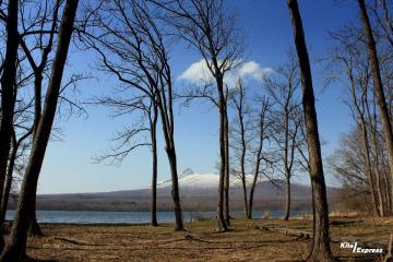 春風いっぱい大沼湖畔