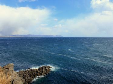 荒波の立待岬