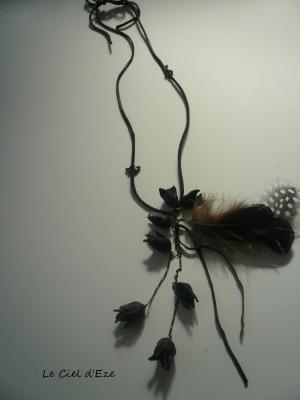 羽根と実のネックレス