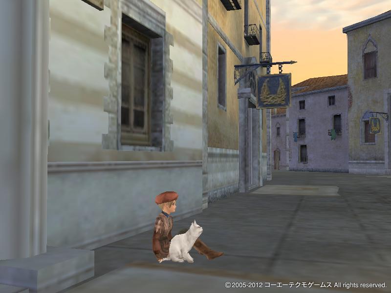 幼女と猫 (夕日のヴェネにて) (1)