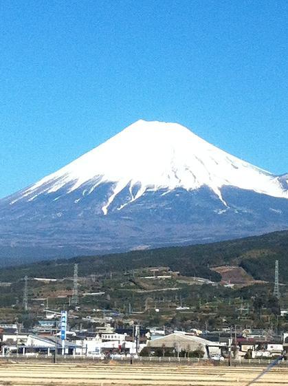新幹線から撮った富士山